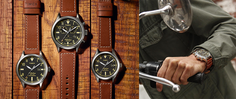 dc97e0ccabc Timex launches a special collection of The Waterbury watches that features  straps made with Red Wing Shoe leather. This collection was designed to  reflect ...